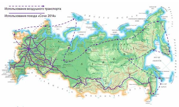 карта передвижения