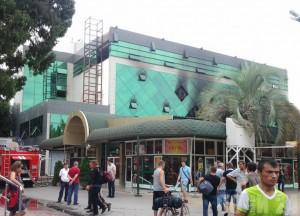 Сочи   В Адлере выгорела часть торгового центра